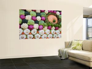 Vegetable Display at Yoyogi Park Agricultural Festival by Gerard Walker