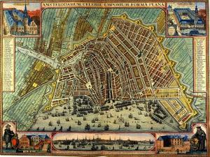 Map of Amsterdam 1633 by Gerardus Mercator