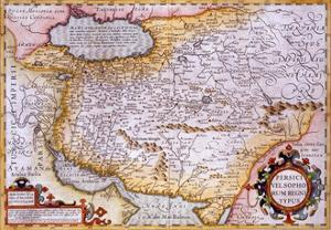 Map of Persia, 1638 by Gerardus Mercator