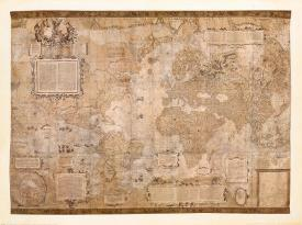 Affordable world maps framed art for sale at allposters map of the world by gerardus mercator gumiabroncs Image collections