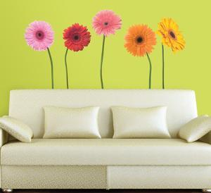 Gerber Daisies Peel & Stick Wall Decals