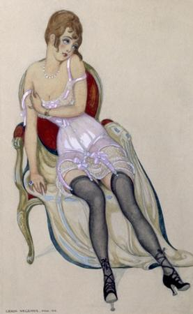 Lady in Underwear, 1917 (W/C)