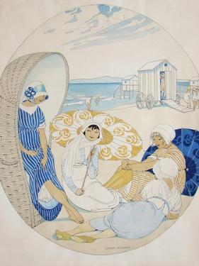 Chatting on the Danish Beach by Gerda Wegener