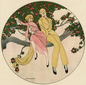 Couple in Tree 1914 by Gerda Wegener
