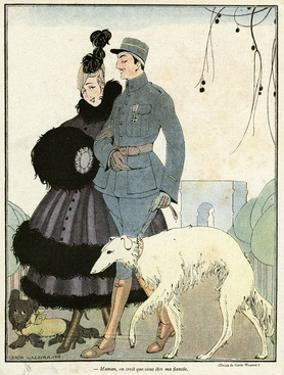 Fur-Trimmed Dress 1916 by Gerda Wegener