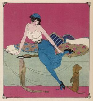 Her Dachshund is Proposing a Walk by Gerda Wegener