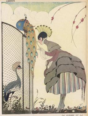 Satire on the Fashion for Voluminous Short Skirts and Use of Antique Styles by Gerda Wegener