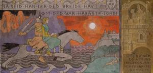 Åsmund and the Princess Riding Home by Gerhard Munthe