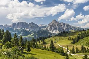 Alp Close Corvara, 'Puezgruppe' (Mountain Range) Behind, the Dolomites, South Tyrol, Italy, Europe by Gerhard Wild