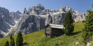 Alpine Hut, Sella Behind, Dolomites, South Tyrol, Italy, Europe by Gerhard Wild