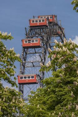 Austria, Vienna, 2nd District, Leopoldstadt, Big Wheel, Prater, Landmark by Gerhard Wild