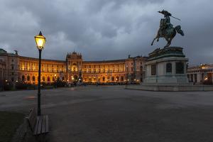Austria, Vienna, Heldenplatz, Hofburg, Equestrian Statue Archduke Charles by Gerhard Wild
