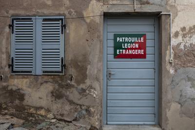 Europe, France, Corsica, Calvi, Entrance to the Foreign Legion