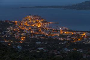 Europe, France, Corsica, Calvi, Town View, Evening Mood by Gerhard Wild