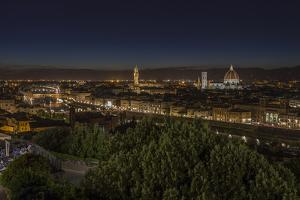 Europe, Italy, Tuscany, Florence, Town View, Evening Mood by Gerhard Wild
