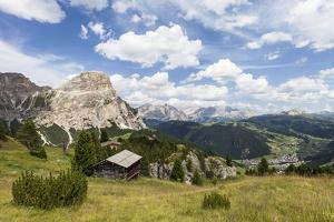 View from High Route of Kolfuschg in the Val Badia, in the Valley of Corvara, Dolomites by Gerhard Wild
