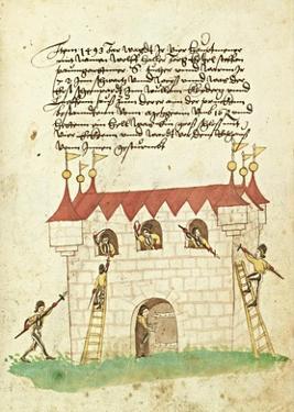Civic festival of the Nuremberg Schembartlauf - Castle by German 16th Century