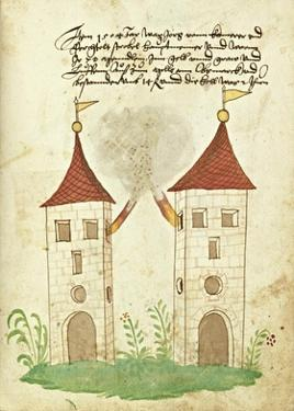 Civic festival of the Nuremberg Schembartlauf - Towers by German 16th Century