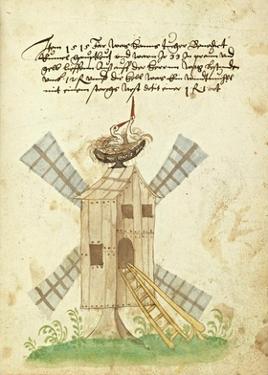 Civic festival of the Nuremberg Schembartlauf - Windmill by German 16th Century