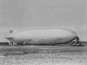 German Airship Hindenburg Moored at Lakehurst New Jersey, Ca. 1933-1937 15-1418M