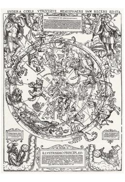 German Champion of 1558 (Map of the northern sky) Art Poster Print