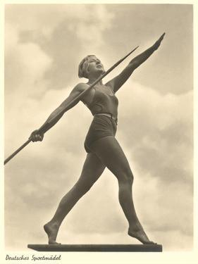German Female Athlete, with Javelin