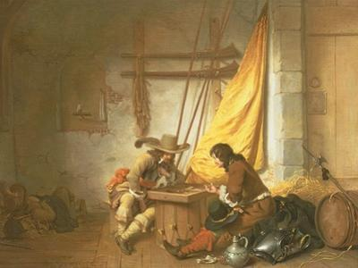 Soldiers Playing Tric-Trac, 1653 by German Gedovius