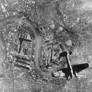 German Heinkel 111 Bomber over London