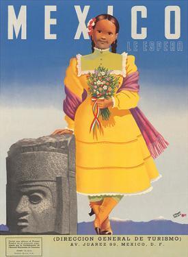 Mexico le Espera, c.1953 by German Horacio