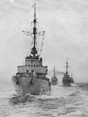 German Minesweepers in Swedish Waters, 1940