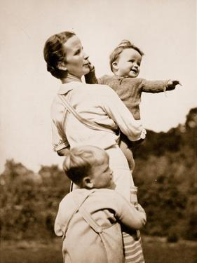 A National Socialist Ideal; a Happy Mother by German photographer