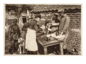 A Veterinary Hospital at the Front (B/W Photo) by German photographer