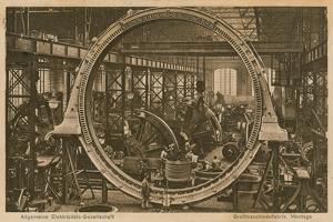 Allgemeine Elektricitats-Gesellschaft. Postcard Sent on 20 April 1913 by German photographer