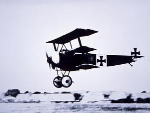 Captain Baron Von Richthofen Landing His Fokker Triplane by German photographer