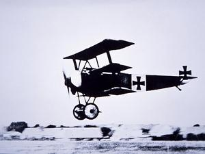 Captain Baron Von Richthofen Landing His Fokker Triplane by German photographer