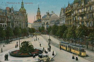 Frankfurt, Rossmarkt. Postcard Sent in 1913 by German photographer