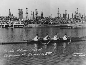 Great Britain, Gold Medallists in the Coxless Fours at the 1932 Los Angeles Olympic Games by German photographer
