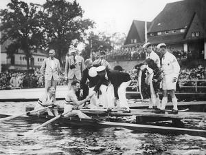 Great Britain, Gold Medallists in the Double Sculls at the 1936 Berlin Olympic Games, 1936 by German photographer