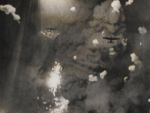 Photograph Taken When Royal Air Force Lancasters Attacked Dresden by German photographer