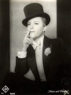 "Portrait of Renate Mueller in the Film ""Viktor and Viktoria"", 1933 by German photographer"