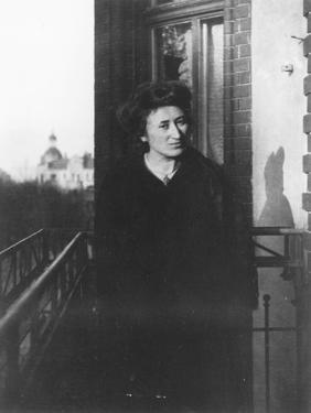 Rosa Luxemburg on a Balcony, 1910 by German photographer