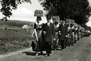 Wedding Procession in the Schwarzwald, Germany by German photographer