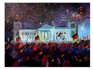 German Reunification Festivities Berlin Reichstag by M Bleichner