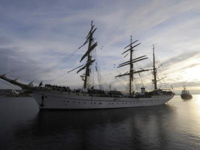 German Sailor Gorch Fock is Pictured During its Arrival in Kiel, Northern Germany