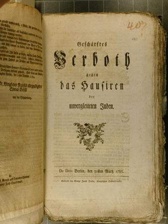 Code of Procedure from 1776 by German School