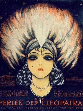 Cover for Score of 'Die Perlen Der Cleopatra', Operetta by Oscar Straus, 1923 by German School