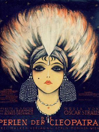 Cover for Score of 'Die Perlen Der Cleopatra', Operetta by Oscar Straus, 1923