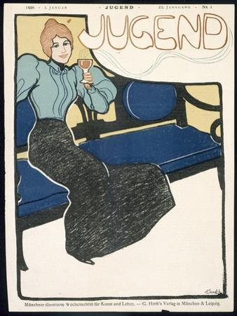 Front Cover of Jugend Magazine, January 1898 by German School