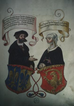 Georg Fugger and His Wife Regina Imhoff, from 'Geheim Ehrenbuch Des Fuggerschen Geschlechts' by German School