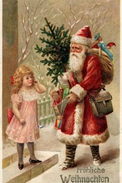 German Christmas Card by German School